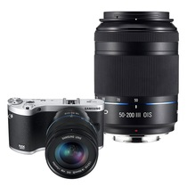 三星 NX300微单电套机 黑色(18-50mm+50-200mm双镜头全焦段)产品图片主图