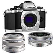 奥林巴斯 E-M10(1442电动+17mm镜头) 微型单电双头套机 银色【文艺青年套装】