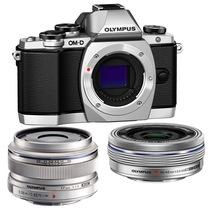奥林巴斯 E-M10(1442电动+17mm镜头) 微型单电双头套机 银色【文艺青年套装】产品图片主图
