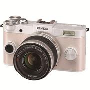 宾得 Q-S1 微型可换镜头相机(5-15/F2.8-4.5 ) 纯白色*奶白