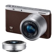 三星  NX mini 微型单电双镜头套装(9mm )/(9mm-27mm) 棕色 内附16G卡
