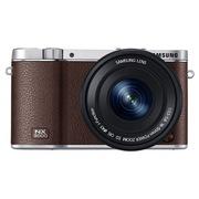 三星  NX3000 微型单电双镜头套装 (50mm-200mm )/(16mm-50mm) (棕色)内附16G卡