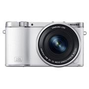 三星  NX3000 微型单电双镜头套装 (50mm-200mm )/(16mm-50mm) (白色)内附16G卡