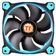 Thermaltake Riing 14厘米LED蓝色风扇(液压轴承/强化减震系统/独特静音技术/降噪控制线/LED导光圈)
