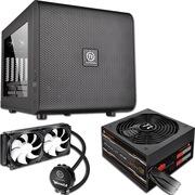 Thermaltake Core V21 M-ATX机箱+SmartSE SPS-530M 电源+Water 3.0 Extreme S CPU水冷散热器(套装)