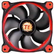 Thermaltake Riing 12厘米LED红色风扇(液压轴承/强化减震系统/独特静音技术/降噪控制线/LED导光圈)