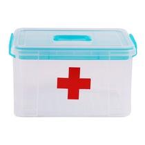 禧天龙 多功能家用塑料药箱 密封急救箱家庭医药盒子 冰蓝8升 6173产品图片主图