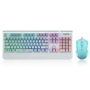 雷柏 V110 混光游戏键鼠套装 白色