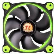 Thermaltake Riing 12厘米LED绿色风扇(液压轴承/强化减震系统/独特静音技术/降噪控制线/LED导光圈)