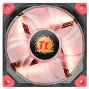 Thermaltake Luna 12cm红光减震薄风扇(液压轴承/强化减震/双叶弧形扇叶/静音/3Pin/大4Pin通用)