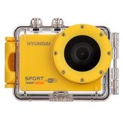 韩国现代 H3+ 现代智能无线wifi运动摄像机户外运动DV (含头盔支架/自行车固定支架/30米防水壳) 黄色