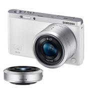 三星  NX mini 微型单电双镜头套装(9mm )/(9mm-27mm) 白色 内附16G卡