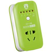 拳王 QW-002 智能1 孔 1.5米定时器插座 电插排位插座/接线板/插线板 绿色