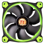 Thermaltake Riing 14厘米LED绿色风扇(液压轴承/强化减震系统/独特静音技术/降噪控制线/LED导光圈)