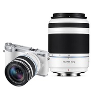 三星 NX300微单电套机 白色(18-50mm+50-200mm双镜头全焦段