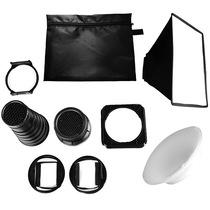 JJC FK-9 通用型闪光灯创意拍摄套装(束光筒/柔光箱/飞碟柔光罩/蜂巢/方形滤镜色片架)产品图片主图
