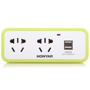 鸿雁 TH13/2G2-USB 带2位USB插口 一转四插座/转换插头/电源转换器