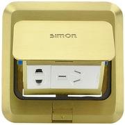 Simon 西蒙地插 两级加两级带接地插座TD120F1 五孔地插