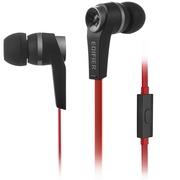 漫步者  H275P 手机耳机 时尚入耳式耳机 可通话 低频出众 酷黑红