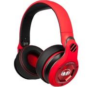 魔声 UFC 头戴式包耳DJ耳机 重低音 线控带麦 红色