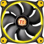 Thermaltake Riing 12厘米LED黄色风扇(液压轴承/强化减震系统/独特静音技术/降噪控制线/LED导光圈)