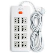得力 3803 新国标8位组合孔总控电源插座/接线板/拖线板 2.8米线长