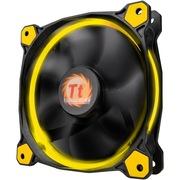 Thermaltake Riing 14厘米LED黄色风扇(液压轴承/强化减震系统/独特静音技术/降噪控制线/LED导光圈)
