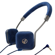 铁三角 ATH-UN1 NV 超轻便携头戴式耳机 海军蓝