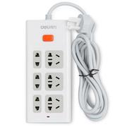得力 3801 新国标6位总控电源插座/插排/插线板/拖线板  1.8米