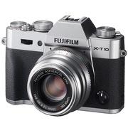 富士 X-T10 微单电套机(XF35) 银色 APS-C 去低通滤镜 WIFI操控 翻折显示屏 XT10轻旗舰