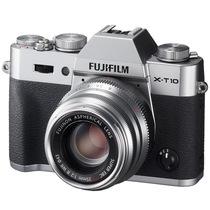 富士 X-T10 微单电套机(XF35) 银色 APS-C 去低通滤镜 WIFI操控 翻折显示屏 XT10轻旗舰产品图片主图