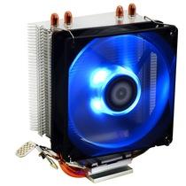 SE-902X 多平台塔式侧吹CPU散热器 双热管9cm蓝色LED灯温控风扇产品图片主图