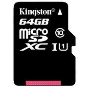 金士顿 读速80Mb/s 64GB UHS-I Class10 TF(Micro SD)高速存储卡