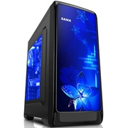 先马 斯玛特豪华版黑 小板专用电脑游戏机箱(大侧透/USB3.0/支持SSD/背线/防尘/电源下置)