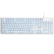 多彩  K9033网吧专用键盘 19键无冲 3色背光 防水抗摔 白色