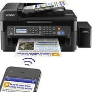 爱普生 L565 墨仓式 网络传真打印机一体机(打印 复印 扫描 云打印 无线直连)