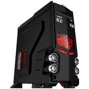 游戏悍将 霸道1豪华黑装机箱(U3/240水冷/风扇调速器/多功能读卡器/30cm显卡 )