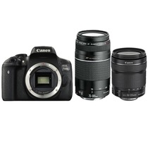 佳能 EOS 750D 单反套机 (EF-S 18-135mm f/3.5-5.6 IS STM+75-300mm f/4-5.6 III USM 镜头)产品图片主图
