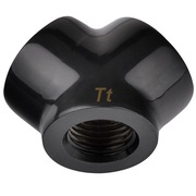 Thermaltake 水冷1出2-Y型转接头/Pacific G1/4 Y Adapter G1/4接口-黑色