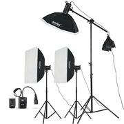神牛 SK400W三灯 电商拍摄用 摄影棚 摄影灯 影室灯闪光灯人像套装摄影器材