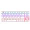 达尔优 机械师2代点彩版 87键背光机械键盘 青轴 玫瑰金产品图片2