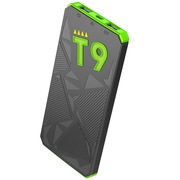 台电 T9轻薄聚合物移动电源10000毫安充电宝2.1A快充 智能体感唤醒灯 荧光绿