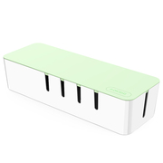QIC BA-M1-GR 插座/插线板理线收纳盒 电源盒电线收纳集线盒 电线整理盒 大号 绿