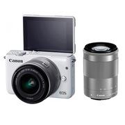 佳能 EOS M10 微型单电双头套机 白色 (EF-M 15-45mm) & (EF-M 55-200mm)