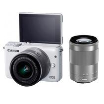 佳能 EOS M10 微型单电双头套机 白色 (EF-M 15-45mm) & (EF-M 55-200mm)产品图片主图