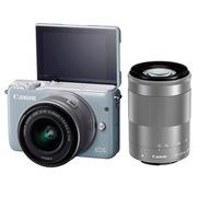 佳能 EOS M10 微型单电双头套机 灰色 (EF-M 15-45mm) & (EF-M 55-200mm)