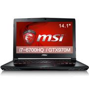 微星  GS40 6QE-006XCN 14.1英寸游戏笔记本电脑(i7-6700HQ 16G 128SSD+1T GTX970M 3G)黑色
