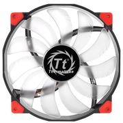 Thermaltake 机箱风扇 Lura 20cm蓝光-橡胶减震静音红黑双色外框-透明导流弧形扇叶-大4小3pin通用