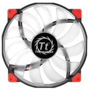 Thermaltake 机箱风扇 Lura 20cm红光-橡胶减震静音红黑双色外框-透明导流弧形扇叶-大4小3pin通用