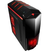 撒哈拉 战舰X5 黑色 台式电脑主机游戏机箱(0.7加厚板材/支持ATX大板/支持120水冷)